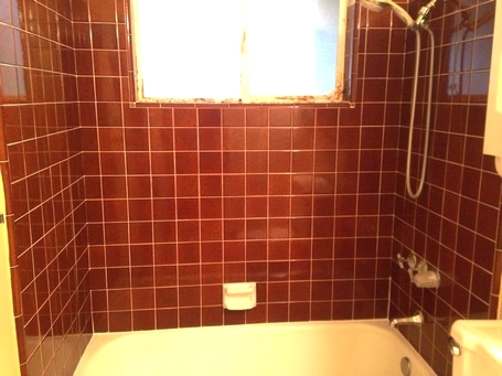 Old bathroom tiles and grout