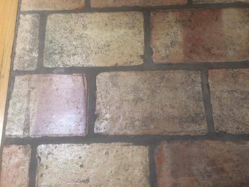 Repaired terracotta tiles in Palo Alto