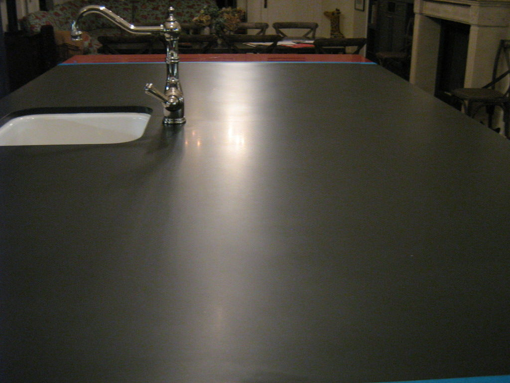 Polished tabletop cleaned and finished