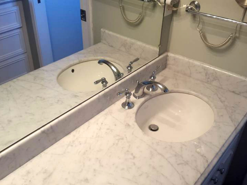 Natural stone cleaned polished sealed certified stone for How to clean marble countertops in bathrooms